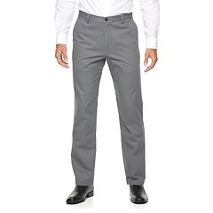Men's Croft & Barrow® Classic-Fit Essential Khaki Flat-Front Pants