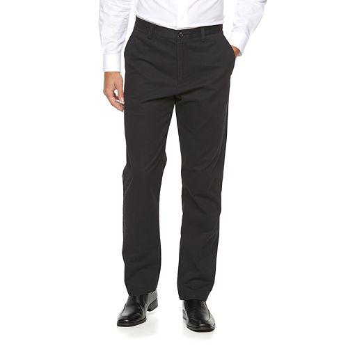 Men's Croft & Barrow® Classic-Fit Essential Khaki Flat-Front Pants