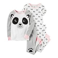 Baby Girl Carter's Panda Tees & Pants Pajama Set