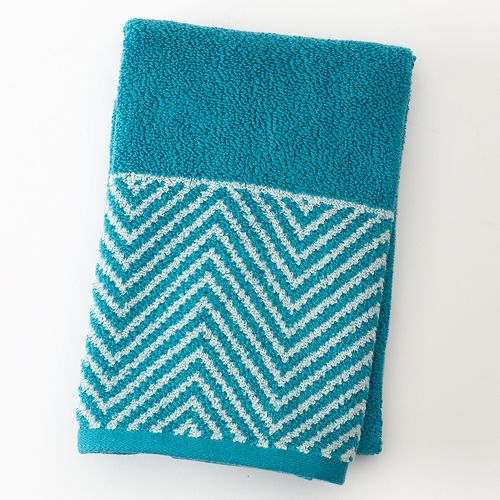 Apt 9 Highly Absorbent Chevron Hand Towel  9 Highly Absorbent Chevron Hand  Towel. Teal Hand Towels