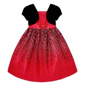 Girls 7-16 American Princess Mock Bolero Polka-Dot Dress