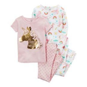 "Baby Girl Carter's ""I Woke Up This Magical"" Unicorn Tees & Pants Pajama Set"