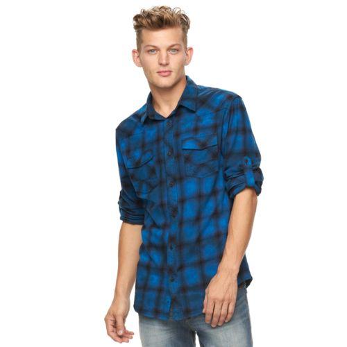 Big & Tall Rock & Republic Plaid Flannel Button-Down Shirt