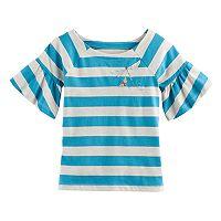Girls 4-12 SONOMA Goods for Life™ Bell-Sleeved Raglan Top