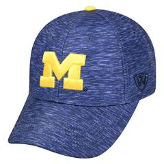 Adult Michigan Wolverines Warp Speed Adjustable Cap