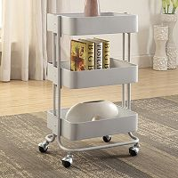 Linon 3 tier Rolling Storage Cart