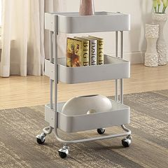 Linon 3-Tier Rolling Storage Cart