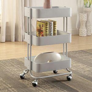 Linon 3-Tier Rolling Storage Cart