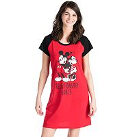Disney's Mickey & Minnie Mouse Juniors' Pajamas: Graphic Sleep Shirt