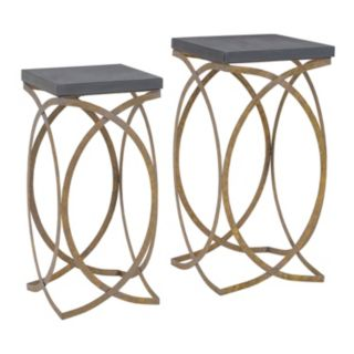 Linon Gold Finish Nesting End Table 2-piece Set
