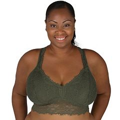 Juniors' Plus Size Candie's® Bras: Cross Back Lace Bralette