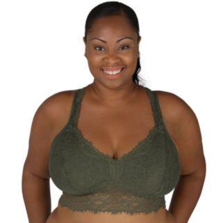Juniors' Plus Size Candie's® Bras: Cross Back Lace Bralette