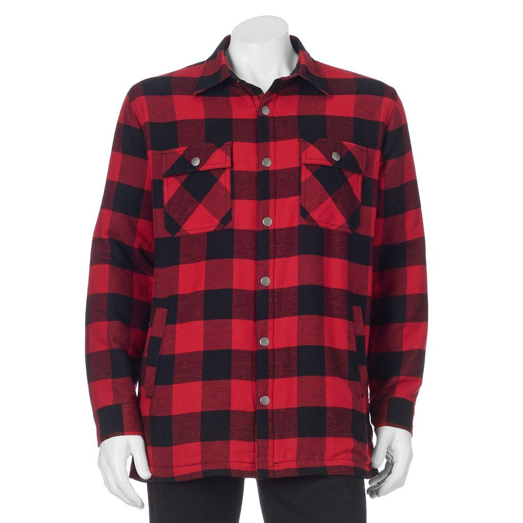 Big & Tall Croft & Barrow® Flannel Shirt Jacket