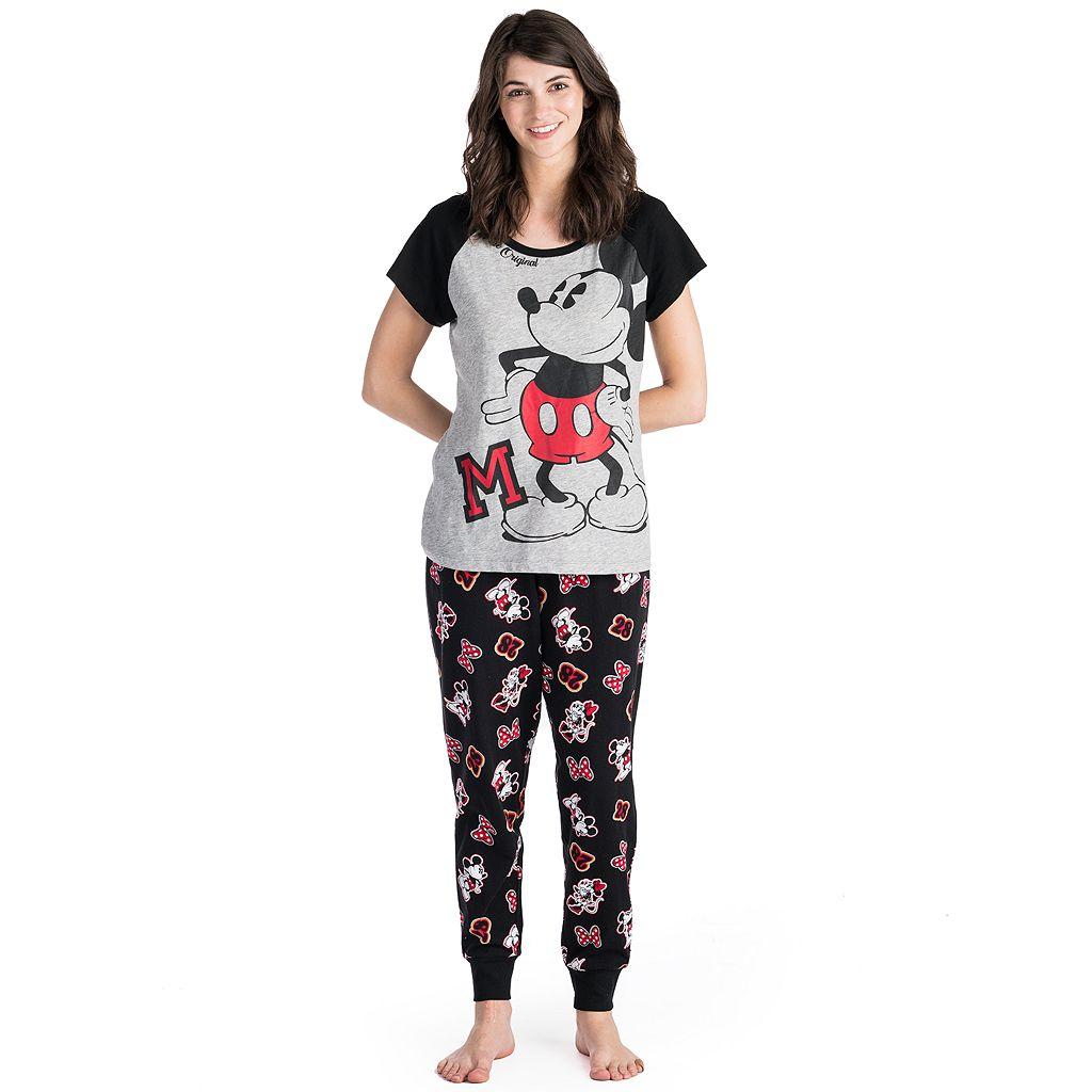 Disney's Mickey & Minnie Mouse Juniors' Pajamas: Tee & Jogger Pants PJ Set