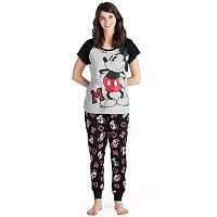 Disney's Mickey & Minnie Mouse Juniors' Pajamas: Tee & Jogger Pants PJ Set