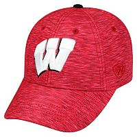 Adult Wisconsin Badgers Warp Speed Adjustable Cap