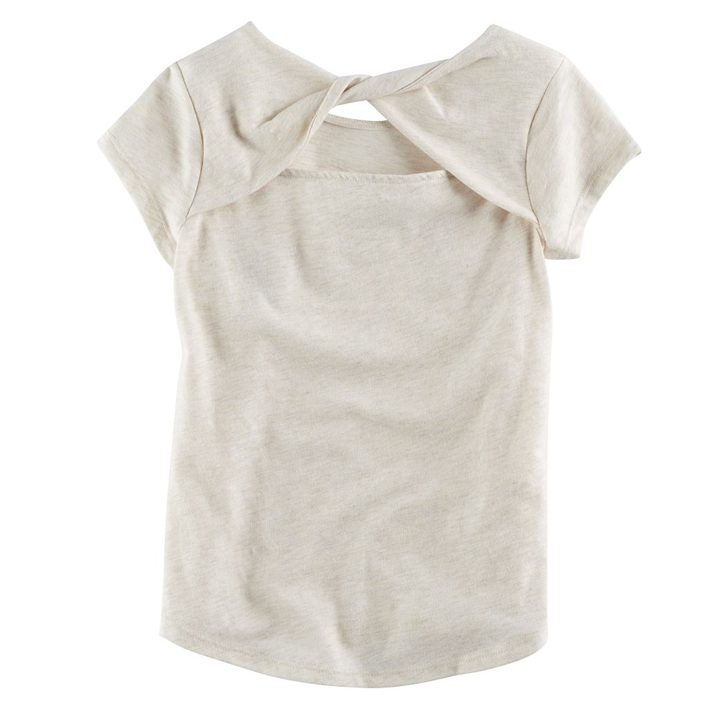 Girls 4-12 SONOMA Goods for Life™ Short-Sleeved Twist-Back Tee