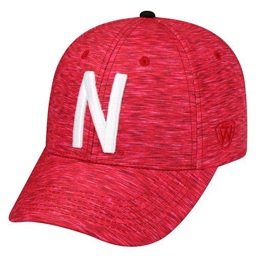 Adult Nebraska Cornhuskers Warp Speed Adjustable Cap