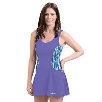 Women's Dolfin Aquashape Tummy Slimmer Colorblock Swimdress
