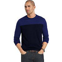 Big & Tall Van Heusen Classic-Fit Colorblock Slubbed Crewneck Sweater