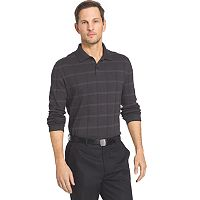 Big & Tall Van Heusen Windowpane Classic-Fit Polo
