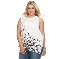 Plus Size Apt. 9® Pleated Asymmetrical Tank