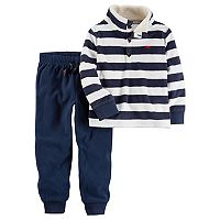 Toddler Boy Carter's Striped Fleece Pullover & Pants Set