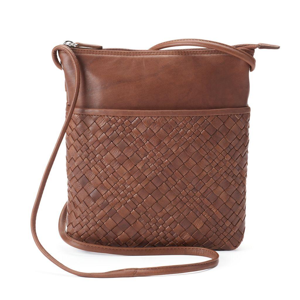 ili Woven Leather Crossbody