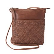 ili Woven Leather Crossbody