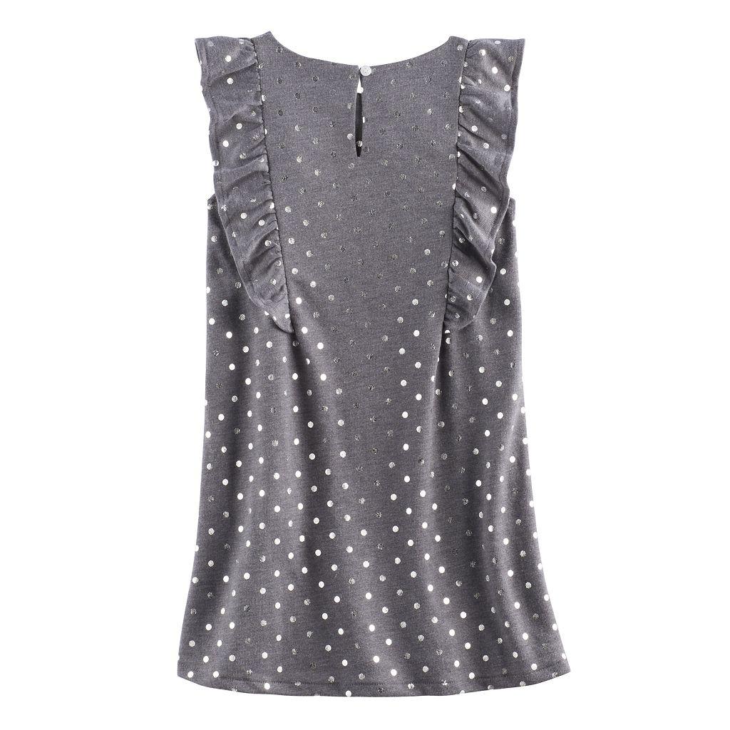 Girls 4-12 SONOMA Goods for Life™ Sleeveless Ruffle Shift Dress