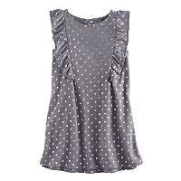 Girls 4-12 SONOMA Goods for Life™ Sleeveless Ruffle Shift Dress