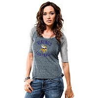 Women's Majestic Minnesota Vikings Act Like a Champion Tee