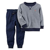Toddler Boy Carter's Striped Fleece Top & Pants Set