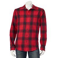 Big & Tall Urban Pipeline® Plaid Flannel Button-Down Shirt