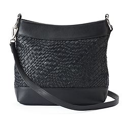ili Woven Leather Hobo