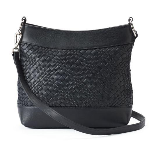ili Woven Leather Hobo