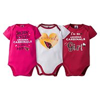 Baby Girl Arizona Cardinals 3-Pack Bodysuits
