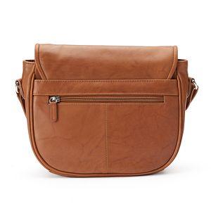 ili Leather Flap Crossbody Bag
