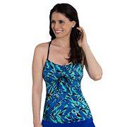 Women's Dolfin Aquashape Bust Enhancer Tie-Font Tankini Top