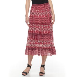 Women's Dana Buchman Tiered Midi Skirt