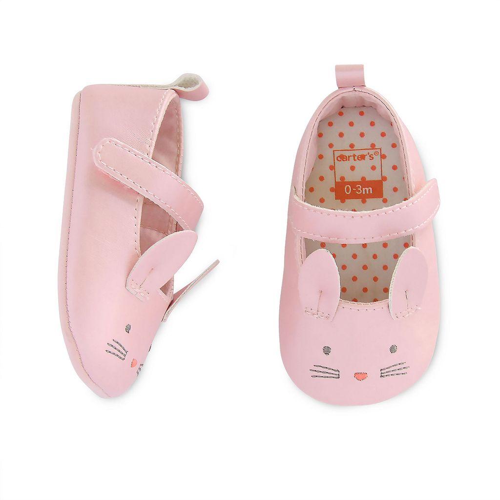 Baby Girl Carter's Mary Jane Bunny Crib Shoes