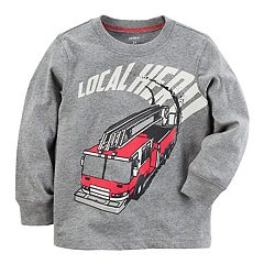 Toddler Boy Carter's 'Local Hero' Fire truck Graphic Tee