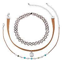 Mudd® Cord & Tattoo Choker Necklace Set