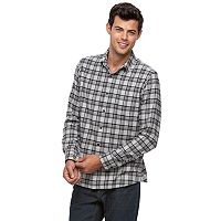 Men's Apt. 9® Slim-Fit Plaid Brushed Flannel Button-Down Shirt