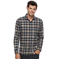 Men's Apt. 9® Slim-Fit Plaid Brushed Flannel Button-Down Shirt