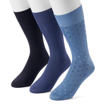 Men's Marc Anthony 3-pack Microfiber Dress Socks