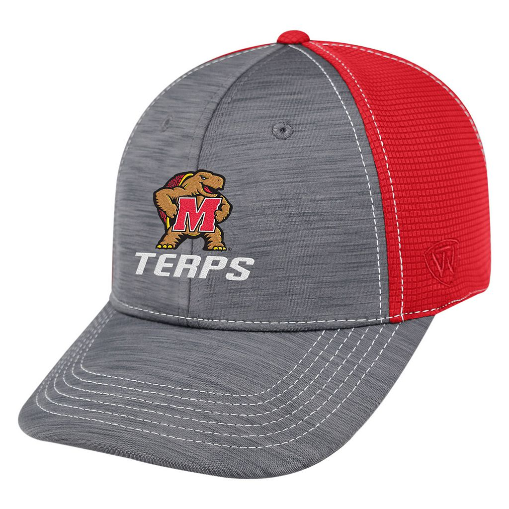 Adult Top of the World Maryland Terrapins Upright Performance One-Fit Cap