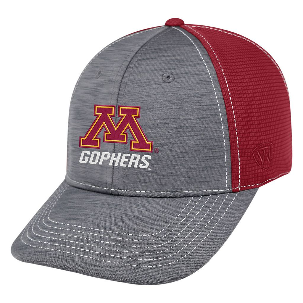 Adult Top of the World Minnesota Golden Gophers Upright Performance One-Fit Cap