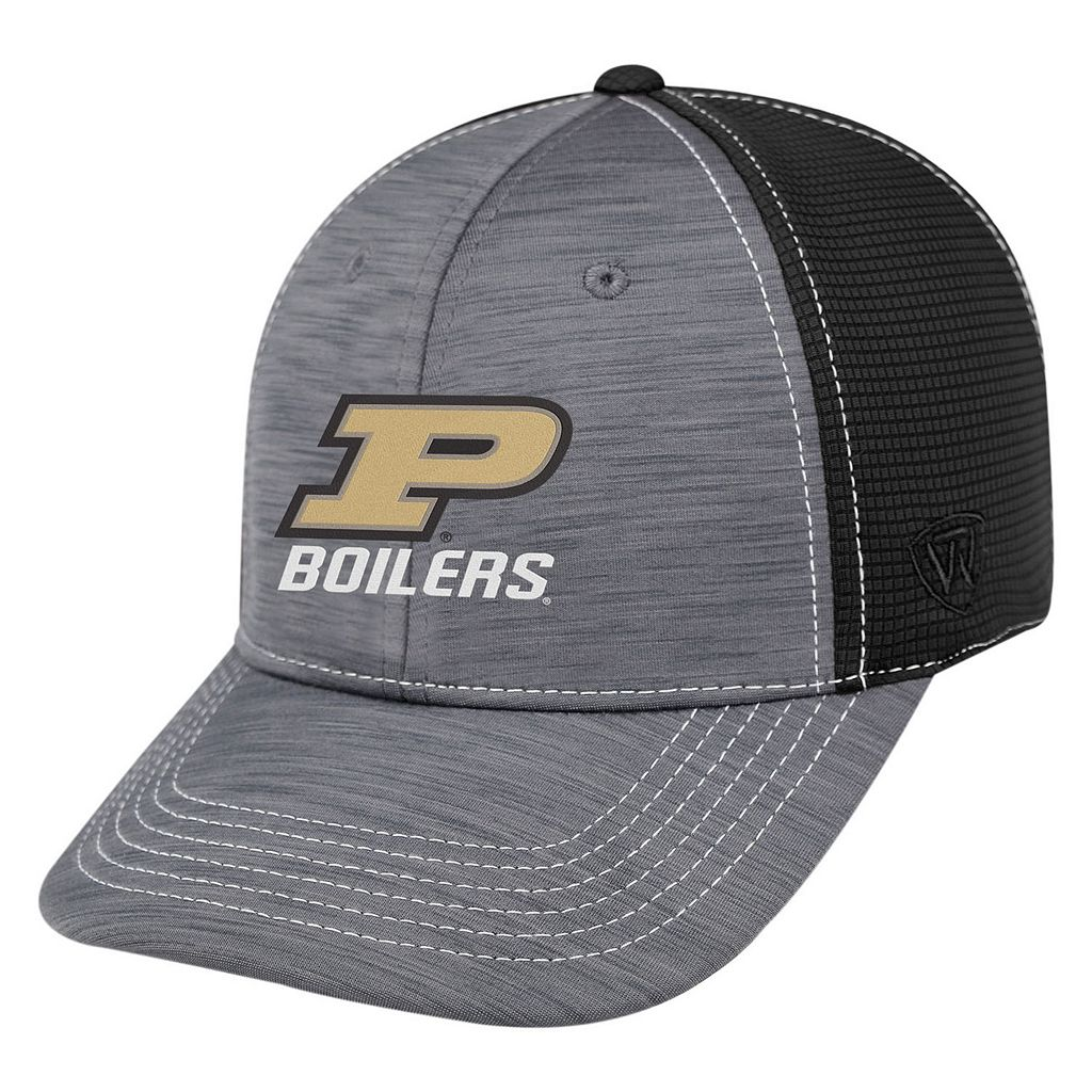 Adult Top of the World Purdue Boilermakers Upright Performance One-Fit Cap