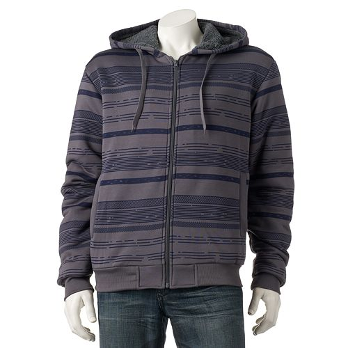 1ffa38c71ddae Men's Courage Clothing Co. Thin Striped Fleece Hoodie